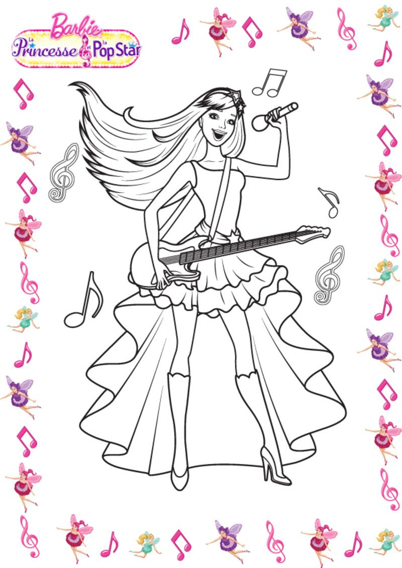 Coloriages barbies - Dessin a imprimer de star ...