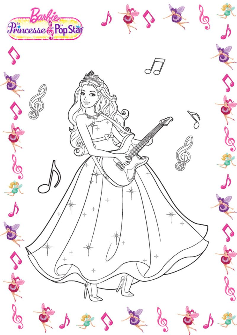 Coloriages barbies - Barbi gratuit ...