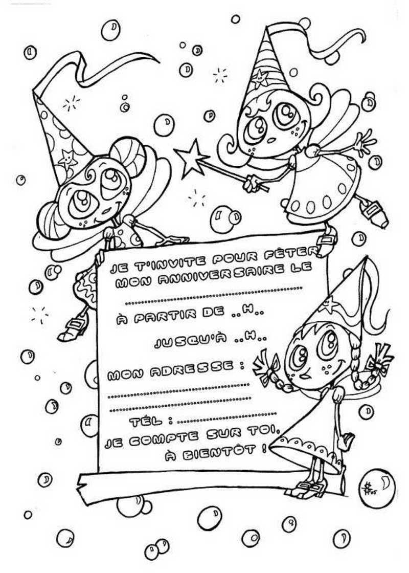 Invitations a imprimer - Dessin joyeux anniversaire ...