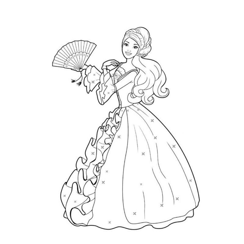 Coloriages barbies - Coloriage de barbie princesse ...