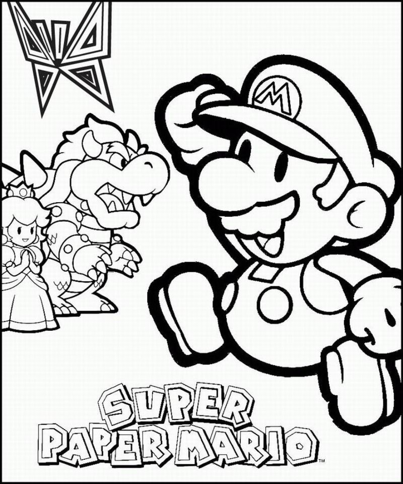 Coloriages divers mario bross - Coloriage divers a imprimer ...