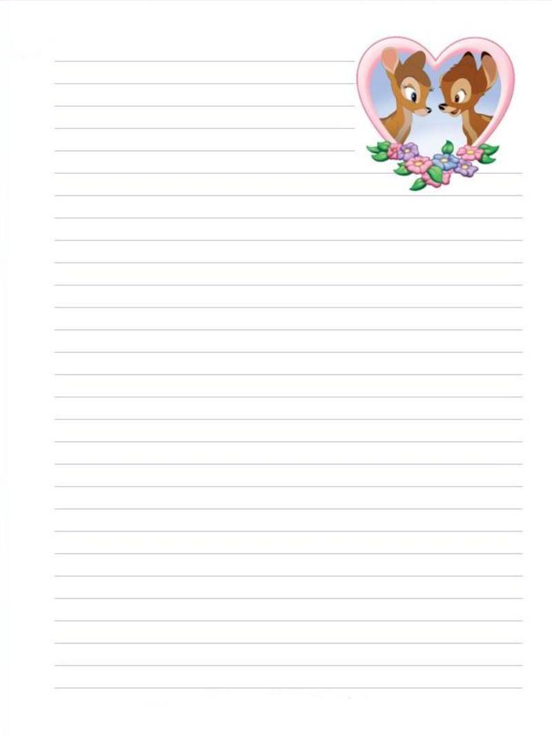 Papiers a lettres - Lettre disney ...